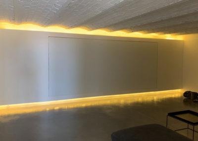 salle de cinéma chez particulier architecte jcbounon yonne bourgogne maitre d'oeuvre