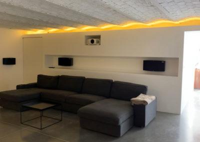 salle de cinéma chez particulier architecte d'intérieur Bourgogne