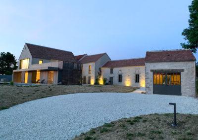 Rénovation corps de ferme Bourgogne JC Bounon après chantier